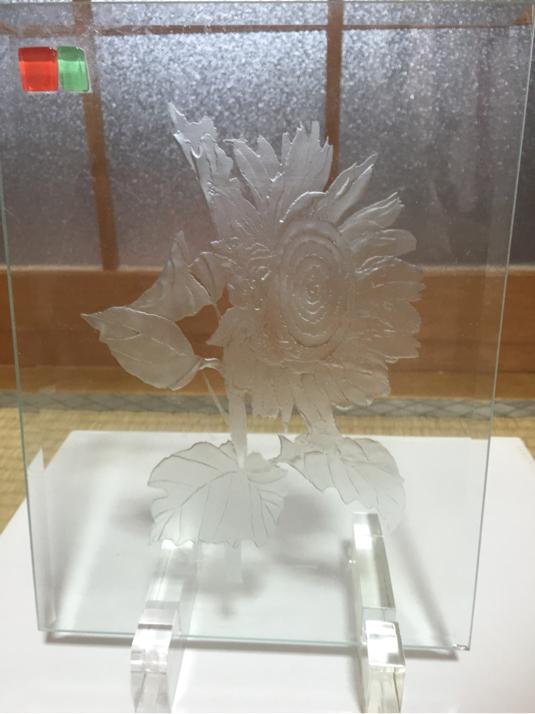 向日葵(ひまわり) ガラス置物