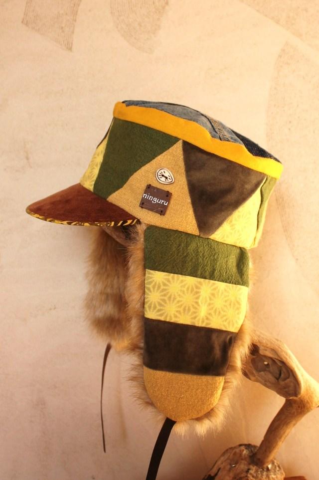 サーカステントシリーズ 黄×緑の耳あて付きKEPI