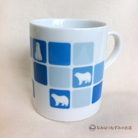 しろくまマグカップ(タイル ブルー)