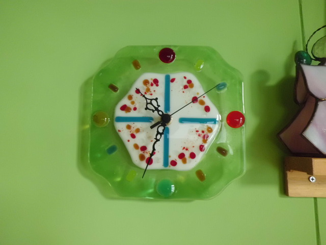 フュージング壁掛け時計