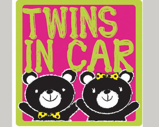 双子の黒くまちゃん 『TWINS IN CAR』