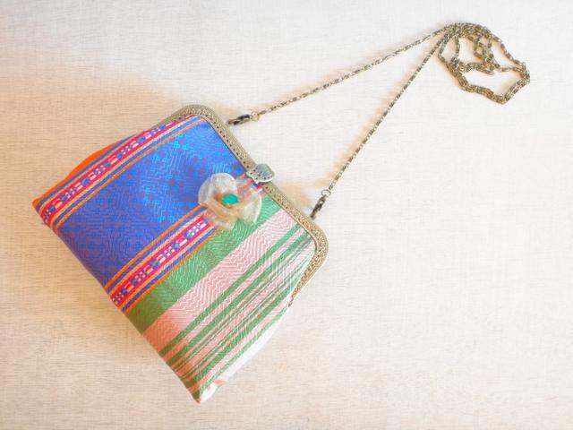 チュニジア布の2wayバッグ(サハラの夕焼18時34分)
