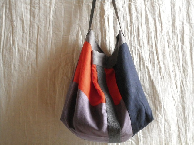 itoiro bag ( orange lavender )