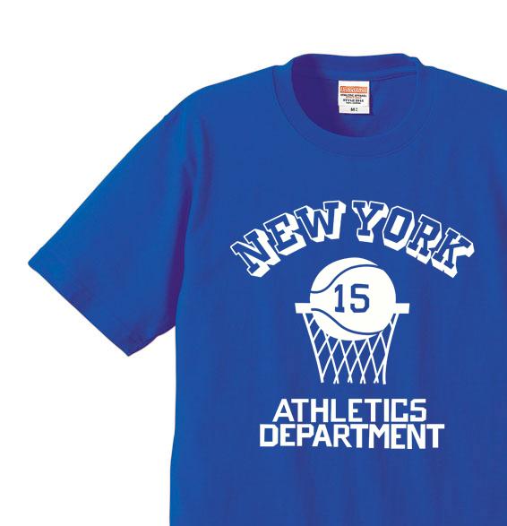 バスケットボール☆NEW YORK   XS〜XL Tシャツ【受注生産品】