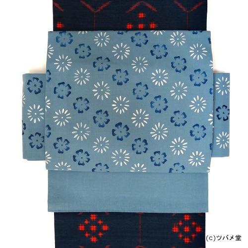 つけ帯・菊桜小紋
