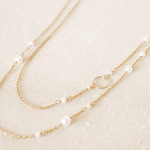 14KGF Pearl Long Necklace