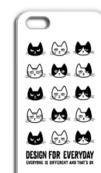 EVERYONE IS DIFFERENT AND THAT'S OK 〜ねこシリーズ〜  iPhone5/5Sケース【受注生産品】