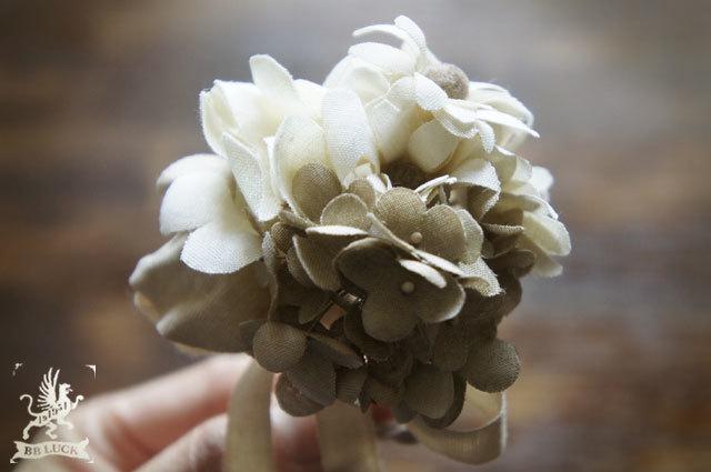 corsage  【 紫陽花とマーガレットのコサージュ  】