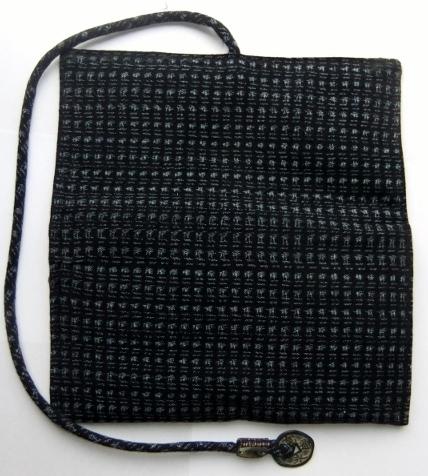 着物リメイク 男絣で作った和風財布 1125