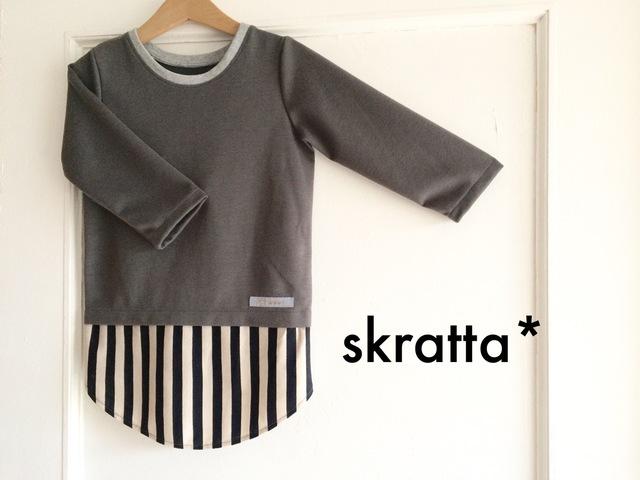 裾が丸いロンT☆(切替gray)
