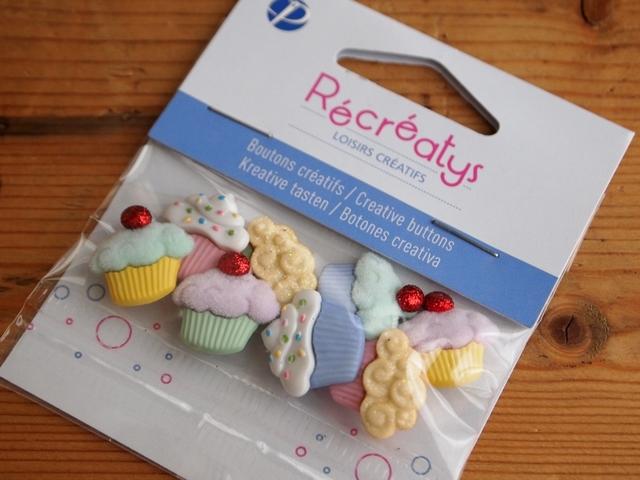 【売り切れ】Recreatys カップケーキ ボタンセット