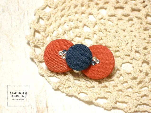 リボンブローチ / scarlet x navy