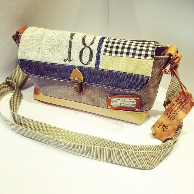 ヴィンテージ帆布×グレインサックショルダーバッグ