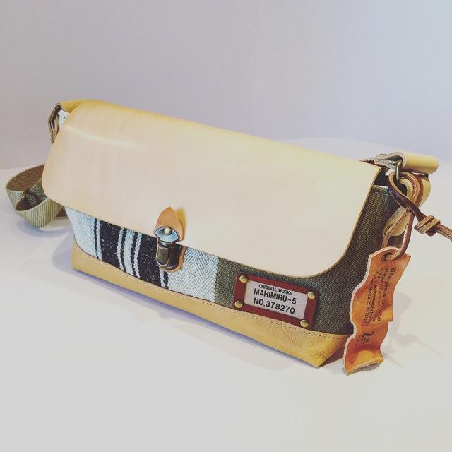 グレインサック×ヌメ革ショルダーバッグオリーブカーキ