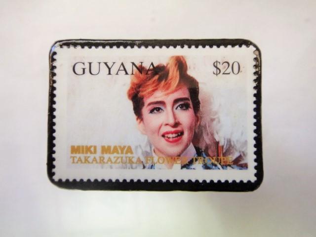 ギアナ 切手ブローチ881