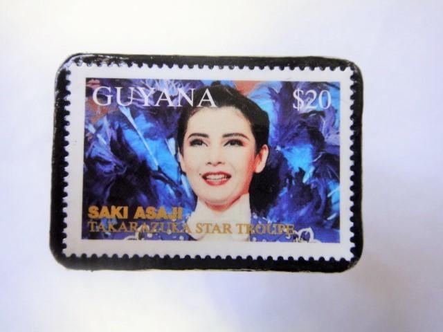 ギアナ 切手ブローチ888