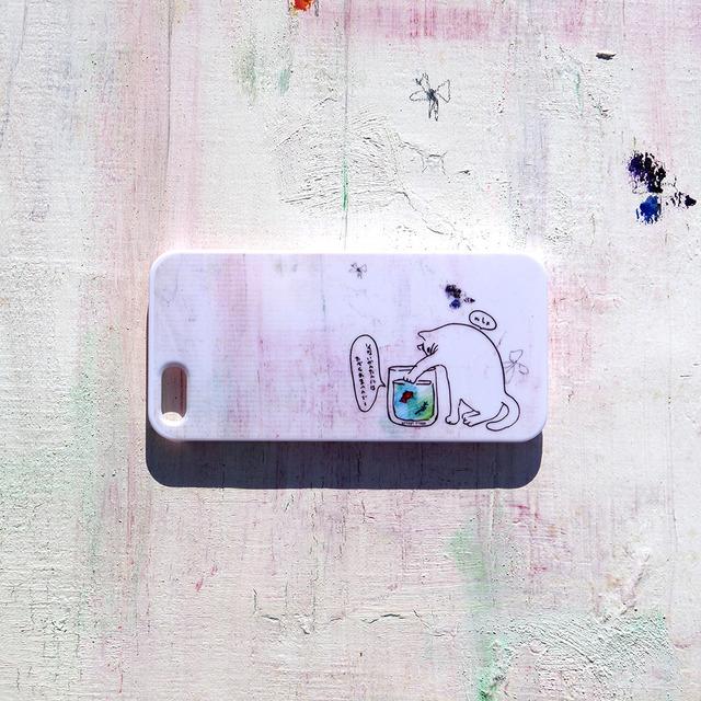 ねこVS金魚 iPhone case(5/5S)
