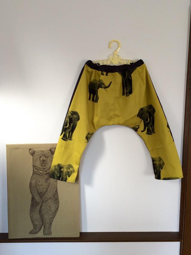 *サイズ90-95:サルエルパンツ elephant