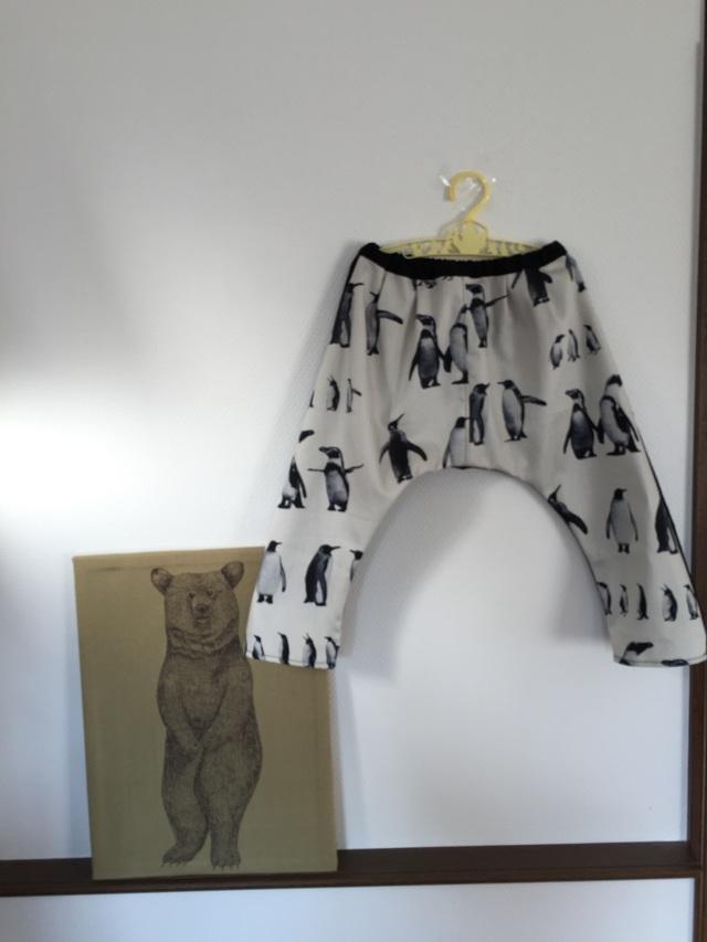 *サイズ90-95:サルエルパンツ penguin