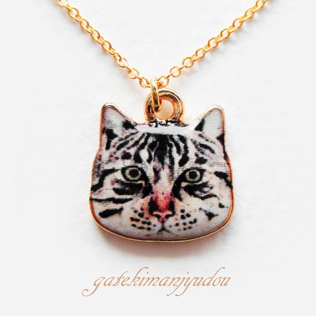 サバトラ猫のネックレス