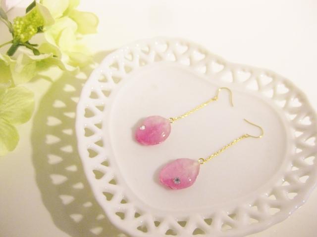 ◇k14gf◇恋する桜の花びらピアス