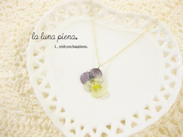◇k14gf◇小さなビオラのネックレス