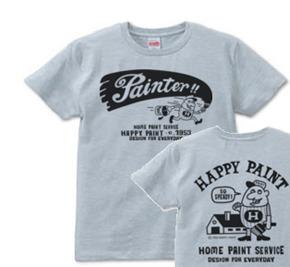 【再販】ペイントマン 両面 S〜XL  Tシャツ【受注生産品】