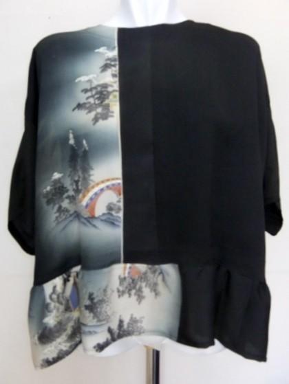 着物リメイク 泥染の色留袖で作ったプルオーバー 1130