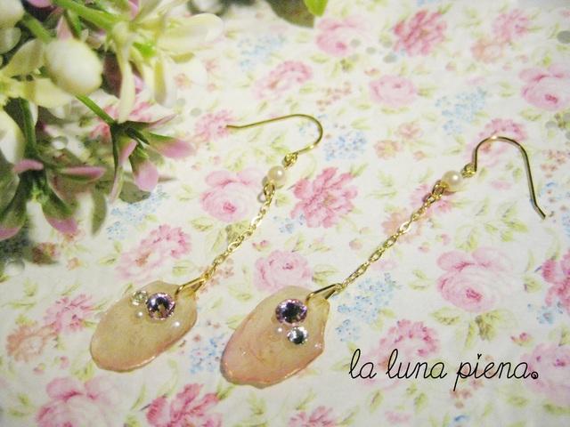 ◇k14gf◇ 小さな桜の花びらピアス
