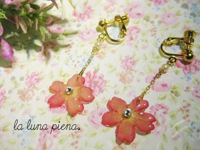 【amipiyo89 様 ご予約品】 Verbena 花のゆれるイヤリング