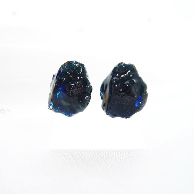 【SALE】鉱石ピアス/深海ブルー(海底)¥850→¥700