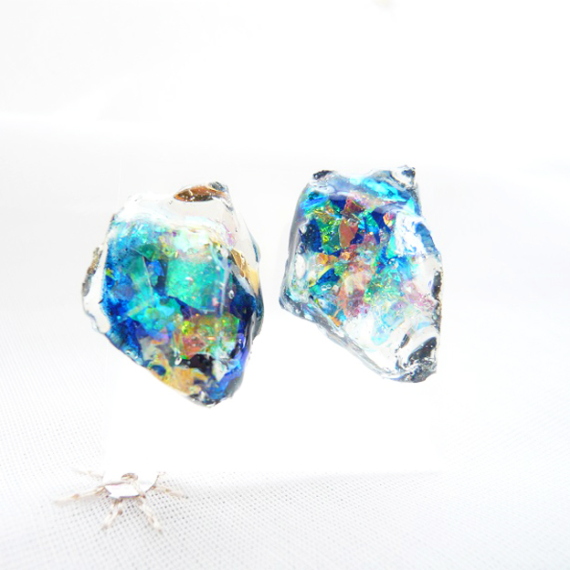 【SALE】鉱石ピアス03/深海ブルー¥850→¥700
