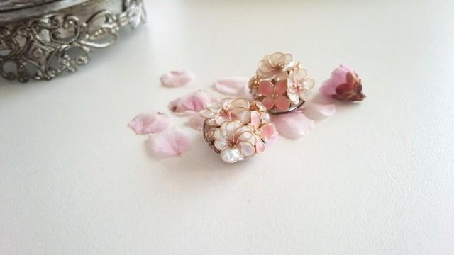 春の淡いブーケイヤリング pink 母の日