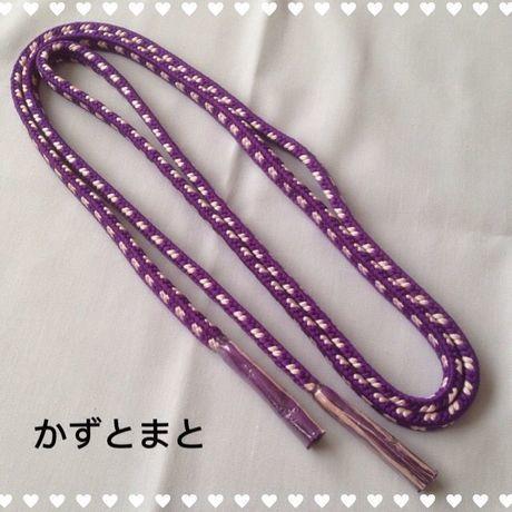 あー4 帯しめ 紫×薄桃
