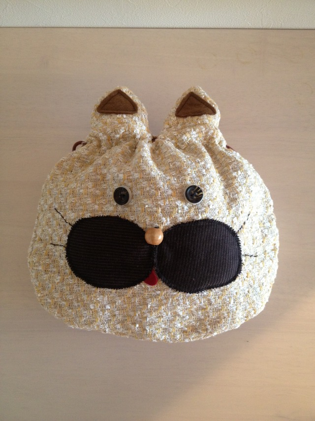 三毛猫さんの巾着