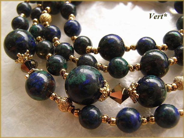 Vert* アズライトマラカイトグリフィンロングネックレス1