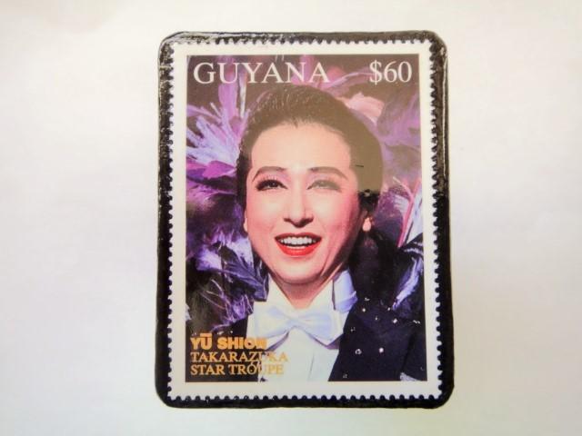 ギアナ 切手ブローチ892