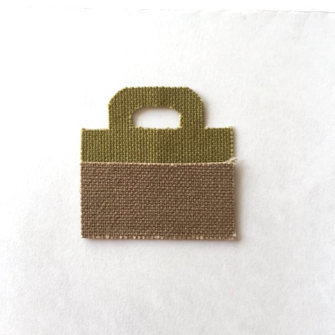 S様ご予約「bicolor tote カスタム」green×beige