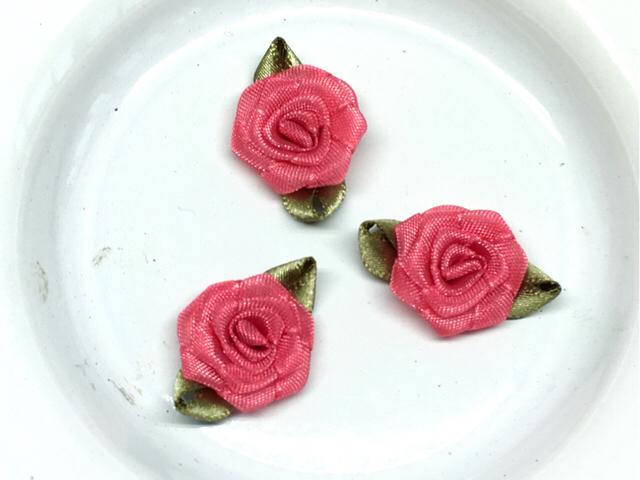 アップリケ(一輪の薔薇の花):5個<47/cp>