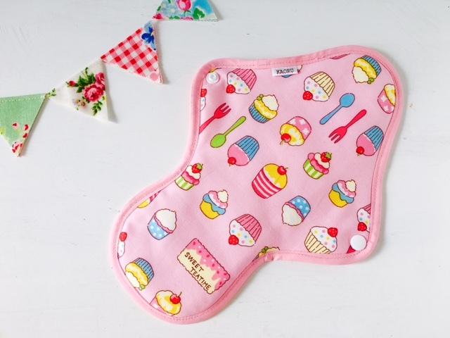 可愛い布ナプキン『sweetピンク』昼用Lサイズ