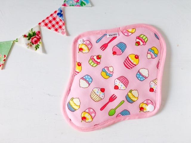 可愛い布ナプキン『sweetピンク』昼用Mサイズ