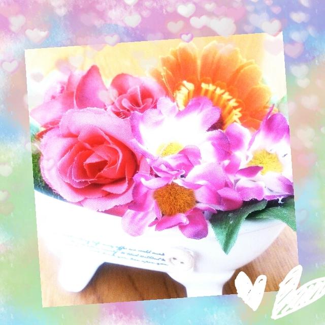 香りのするお花の置物  送料無料