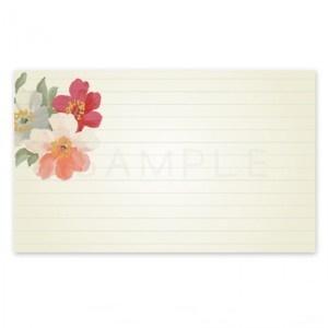 (MC6)〈メッセージカードorシール〉水彩のお花《ホワイト01》 ☆A4サイズ