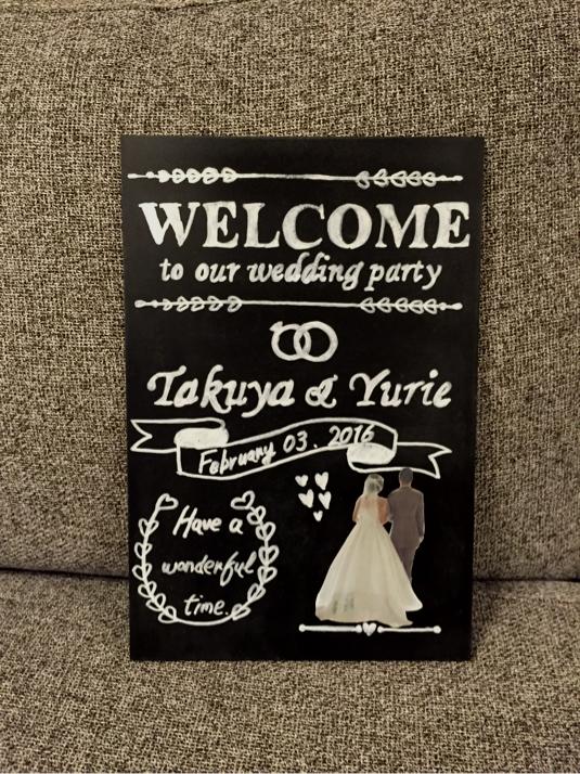 結婚式 ブラックボード