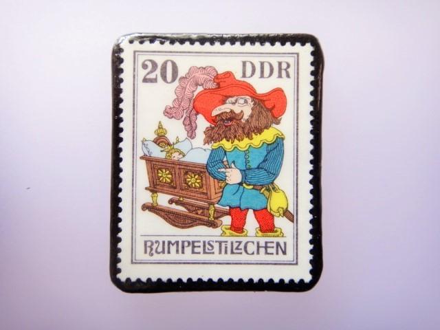ドイツ 童話切手ブローチ910