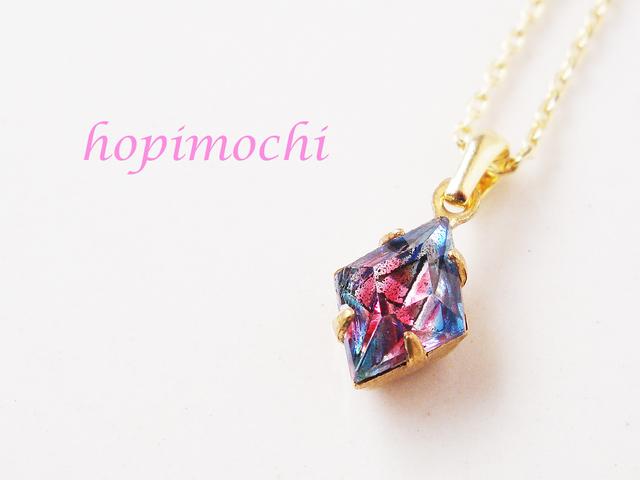 【1点のみ】ゆめ色アイリスのダイヤネックレス(ブルー)