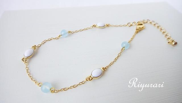 Sea Blue Chalcedony Bracelet