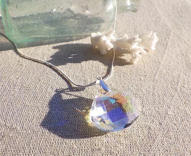 ☆再販☆ 人魚の貝殻 クリスタルネックレス HUGE! *SV925*