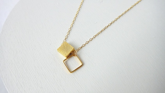 Double Square necklace