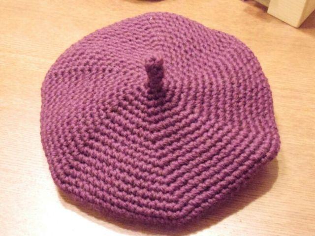 ブドウ色 ベレー帽 Sサイズ